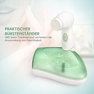 Gesichtsreinigungsbürste USpicy Gesichtsbürste Elektrisch IPX5 Wasserdicht Minimiert Poren Entfernt Mitesser Verbessert Teint Hautreinigung Gesichts-Massagegerät mit Etui -